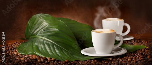 In de dag Koffiebonen Cappuccino caldo - Hot Coffee
