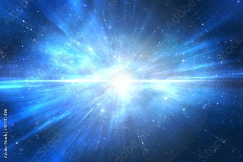 Fototapeta Space travel trough universe obraz na płótnie