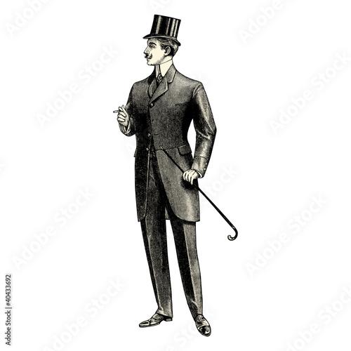 Fotografie, Obraz  Homme du 19ème siècle