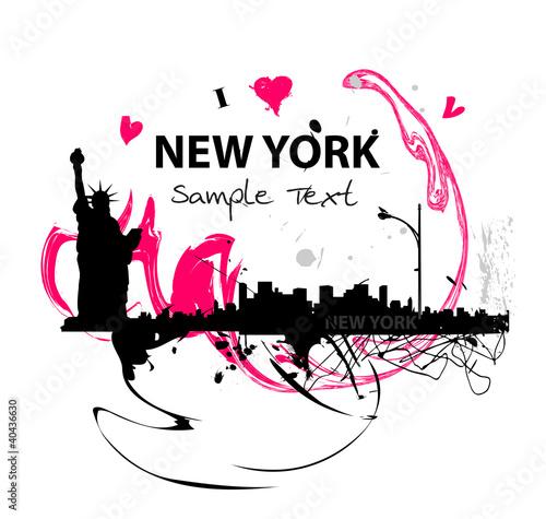 Kunstwerke Skyline von New York City