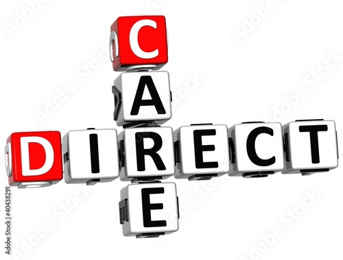 3D Direct Care Crossword text Poster