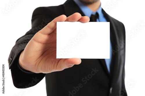 Fotografie, Obraz  uomo con biglietto grande