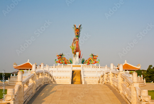Foto op Aluminium Florence Dragon statue at Nakornsawan,Thailand