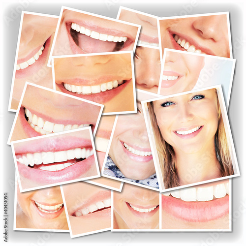 Smiling faces collage #40451054