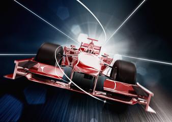 Fototapeta3d render, formula one car concept