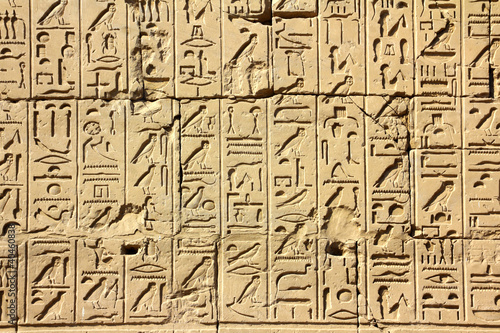 Tuinposter Egypte ancient egypt hieroglyphics in karnak temple