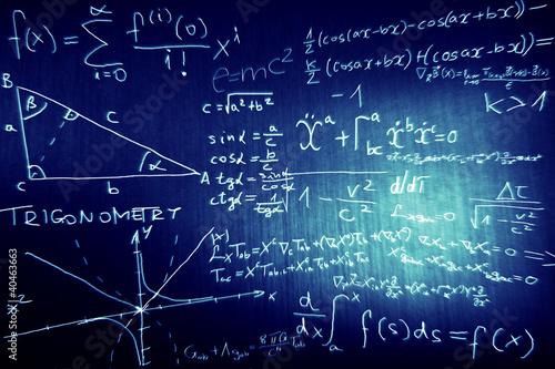 Fotografie, Obraz  Science Mathematics Physics Illustration
