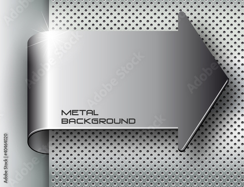 Papiers peints Metal Metal background.Vector illustration
