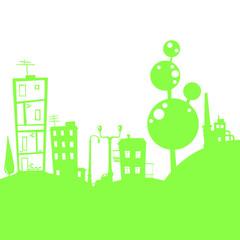 green little town