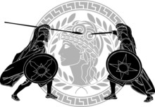 Trojan War. Stencil