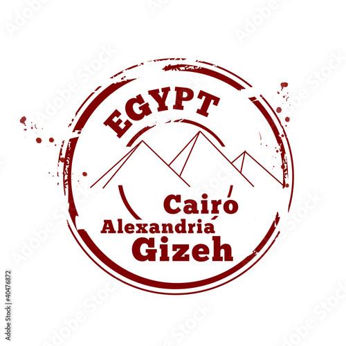 Fototapeta timbre Egypte