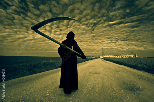 Grim Reaper on the road Poster