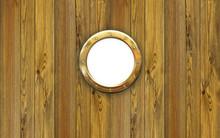 Ship Porthole - Hole Frame In Yacht  Interior