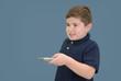 Boy Holding Remote Control