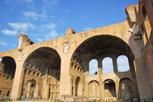 Rome The Basilica Of Maxentius And Constantine