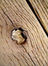 Old Wooden Bridge With Hole