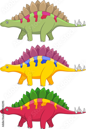 Photo sur Aluminium Dinosaurs Stegosaurus cartoon