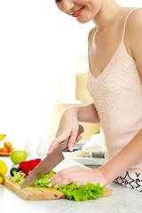 Obraz na płótnie Canvas Cooking at home