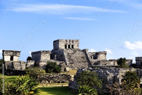 Papiers peints Mexique The famous archaeological ruins of Tulum in Mexico