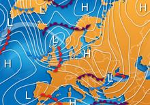 European Vector Weather Map