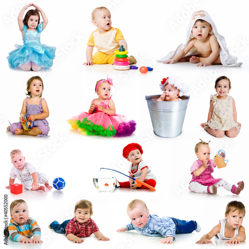collection baby photos Plakat