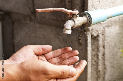 In de dag Boho Stijl Washing of hands