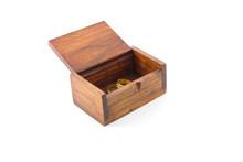 Wood Box On White Background