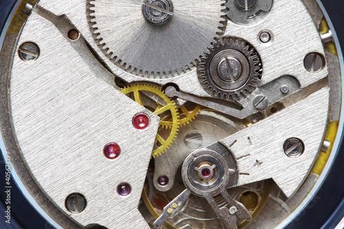 Foto auf AluDibond Boho-Stil old metal clockwork