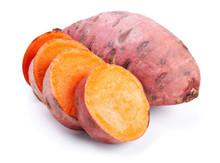Sweet Potato With Slices Isola...