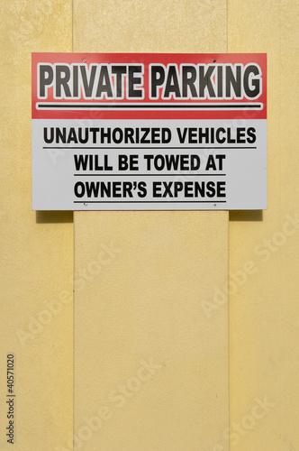 Fotografie, Obraz  Private parking sign