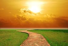 Sunset Way Background