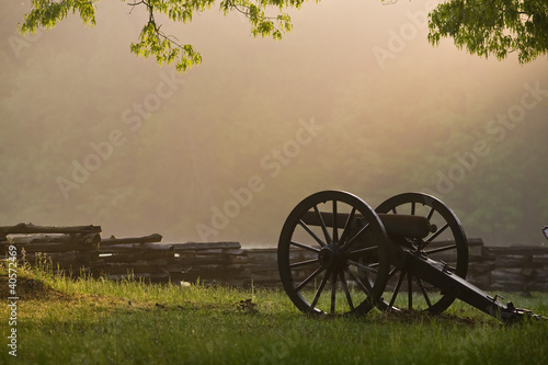 Fotografering Civil War Cannon