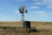 Windmill And Water Tank On The...