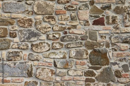 Photo  Muro in pietra toscano