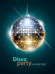 Fototapeta mirror disco ball vector illustration EPS10. Transparent