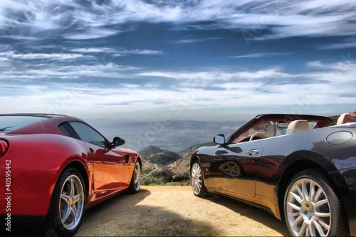 Leinwand Poster Luxury modern cars