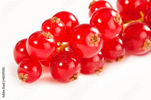 Photo  Red currant, isolated on white