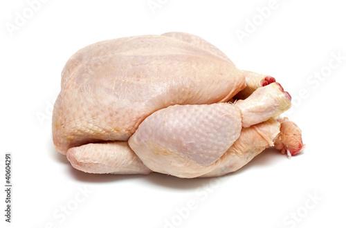 Keuken foto achterwand Kip raw chicken isolatde on white background