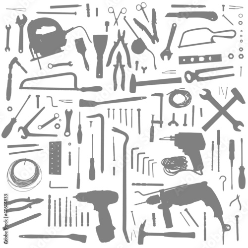 Construction tools pattern - Buy this stock vector and