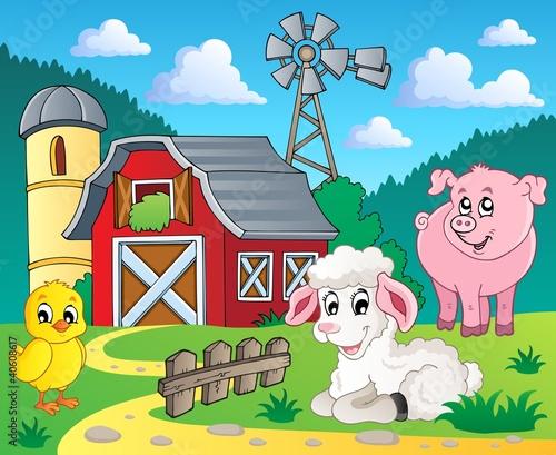 Fotobehang Boerderij Farm theme image 5