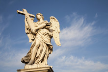 Rome - Angel With The Cross By Ercole Ferrata