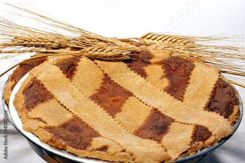 "Typical Neapolitan paschal dessert called ""Pastiera"". Tapéta, Fotótapéta"