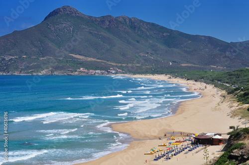 Photo  Sardegna, Buggerru, spiaggia di San Nicolao, vista di Portixeddu