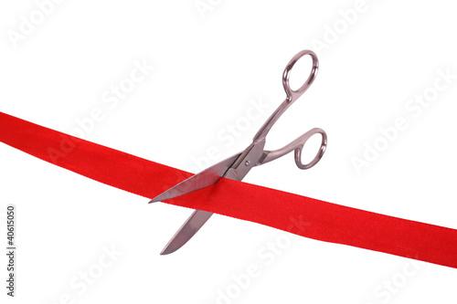 Fotografía  scissors and ribbon