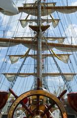 FototapetaOld ship wheel