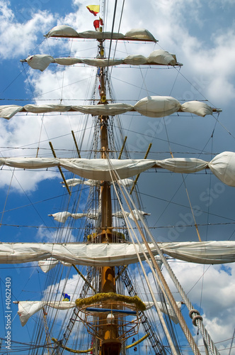 Foto op Canvas Schip Old sailing ship