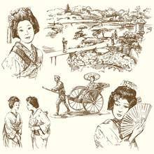 Japan - Hand Drawn Set