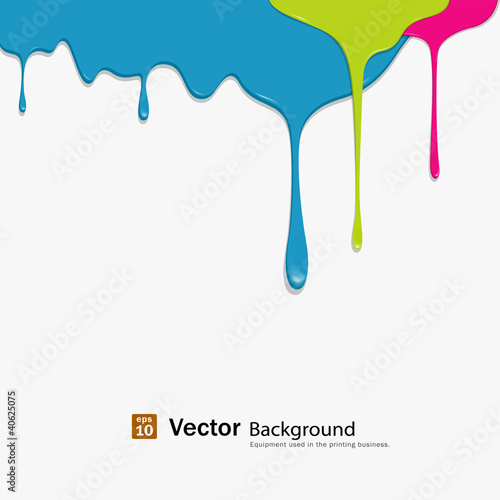 Papiers peints Forme Paint colorful dripping background, vector