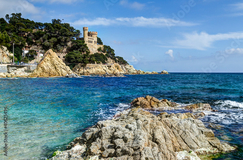 Foto-Leinwand - mediterranean sea at the Costa Brava - Lloret de Mar, Spain