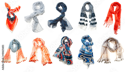 woman scarf Canvas-taulu